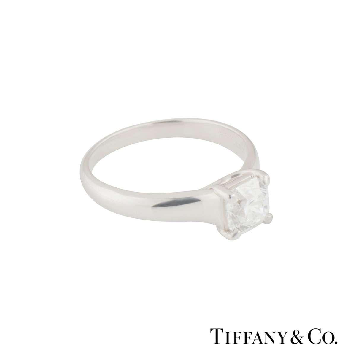 Tiffany & Co. Diamond Platinum Lucida Ring 1.19ct E/VS1